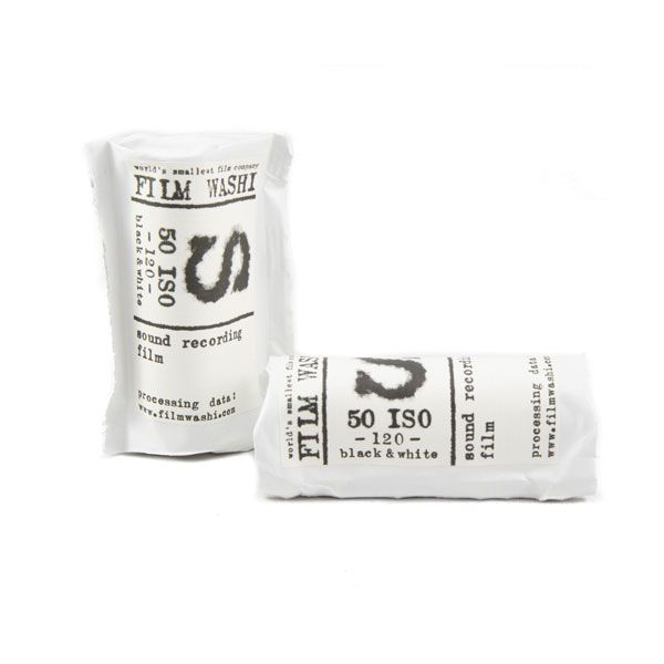Washi S 50 Film Pelicula 35mm panchromatic black and whit sound recording film